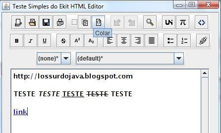 Editor HTML para Swing
