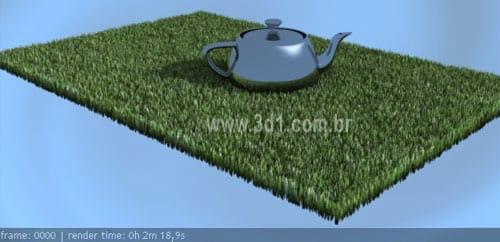 3D Studio Max - Criando gramado realista