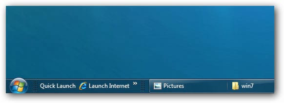 Como adicionar a barra de Quick Launch no Windows 7