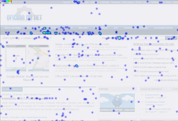 ClickHeat - Mapa de calor em seu site