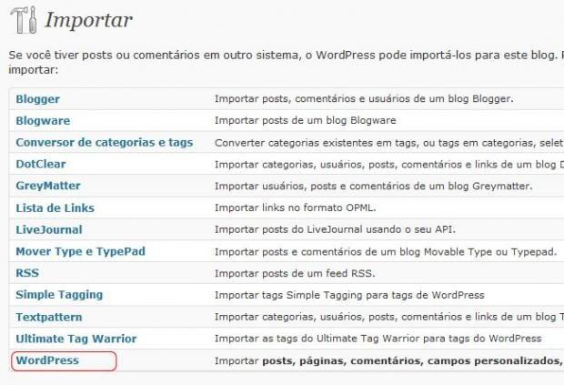 Como migrar blog WordPress