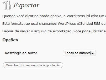Como migrar blog WordPress