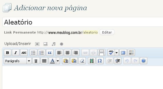 Tutorial WordPress: Criando uma página para ir para post aleatório