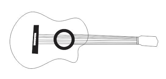 Corel Draw: A Ferramenta B-Spline - Fazendo um violão