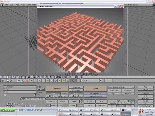 Criando um Labirinto no Blender