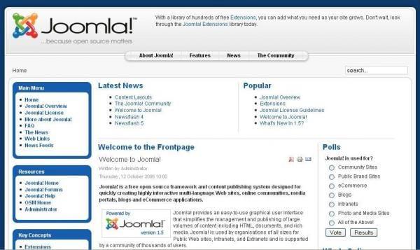 Instalando o Joomla 1.5 Stable