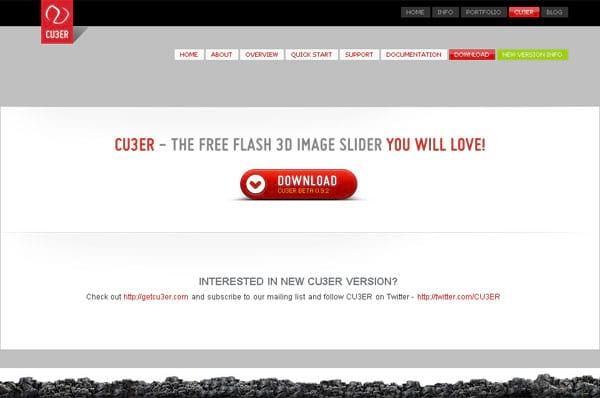 CU3ER - Elemento para transição de Imagens 3D