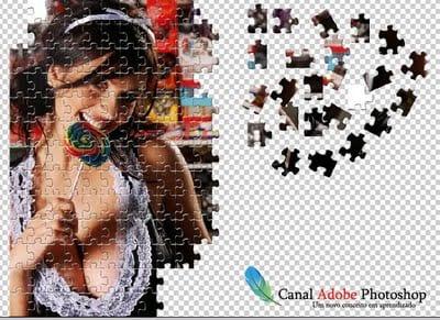 Criando um quebra cabeças no photoshop usando uma foto