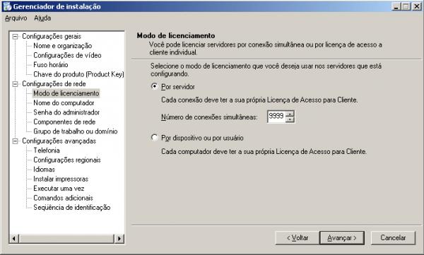 Criando um arquivo de respostas para o Sysprep no Windows 2003 Server