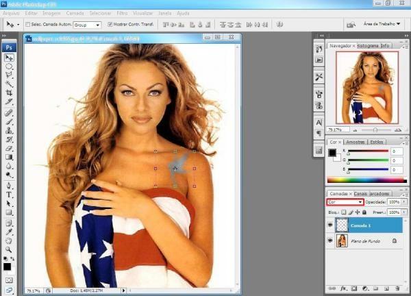 Como colocar uma tatuagem no Photoshop