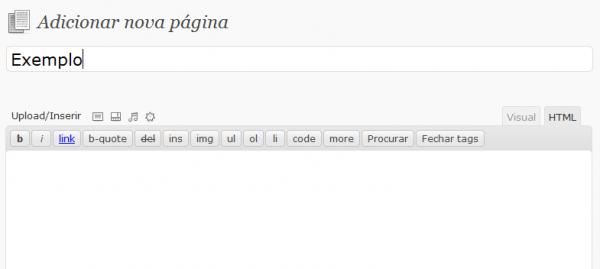 Como adicionar modelo de página diferente no Wordpress