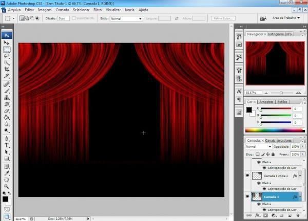 Criando cortina no Photoshop