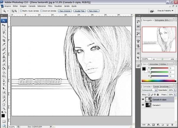 Convertendo imagem para desenho no photoshop