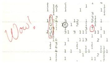 Procurando vida em outros planetas: o sinal Wow!