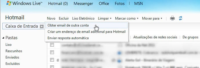 Como adicionar contas de e-mail no Windows Mail