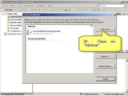 Configurando Gmail no Windows Mail