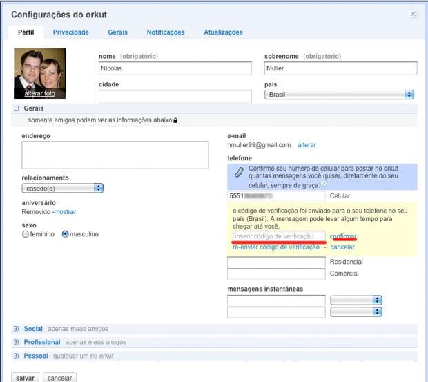 Como ativar o Google talk no orkut?