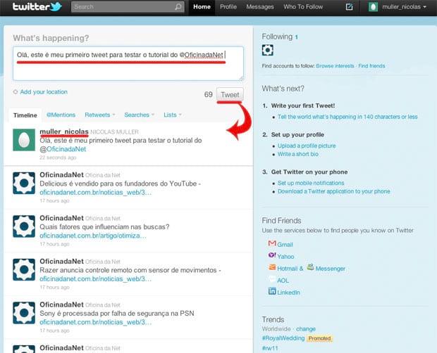 Como criar uma conta no Twitter?