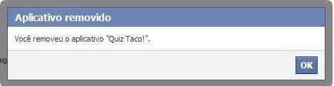 Removendo aplicativos do Facebook