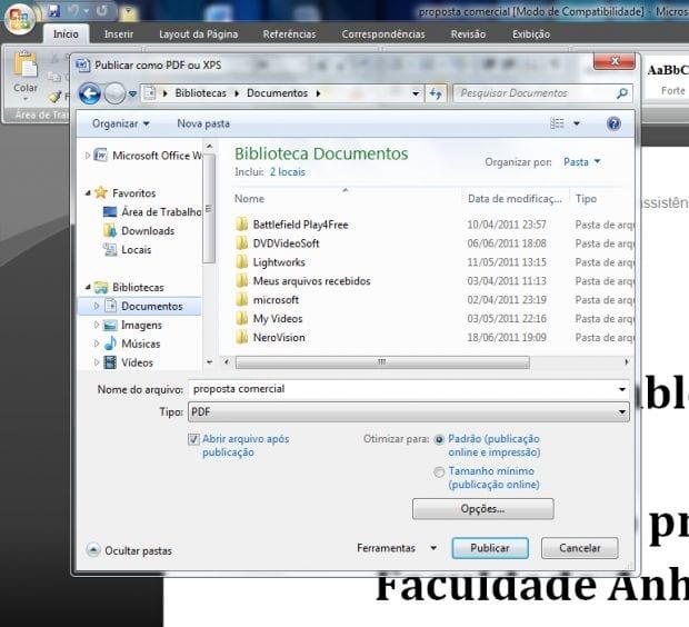 Convertendo DOC para PDF