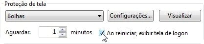 Como bloquear o Windows 7 depois de estar ocioso