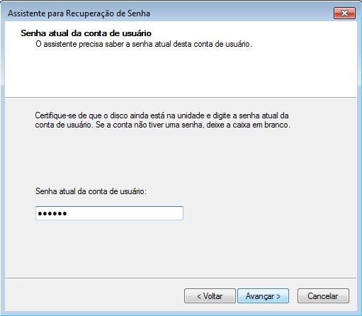 Windows: Contas de usuários - criando um disco de redefinição de senha