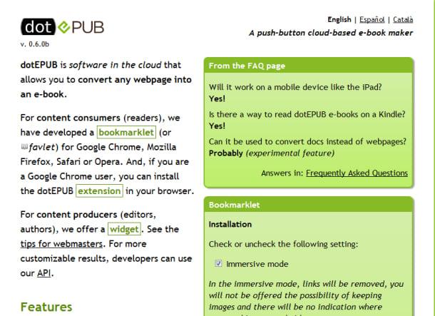 Como converter páginas da Web para e-books
