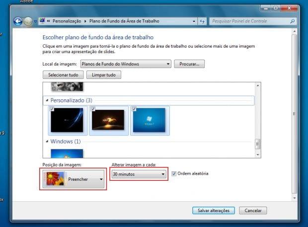 Criando um tema personalizado para o Windows 7