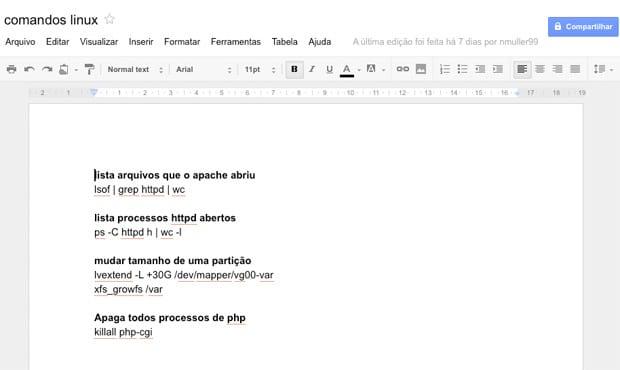 Como render mais com o Google Docs