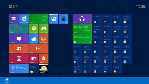 Windows 8: All Apps