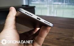 Xiaomi Mi Note 4x - parte de baixo, alto falante + cabo usb para carga e dados