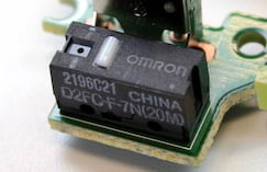 Switch principal OMRON 20M do Logitech G Pro