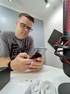 Zenfone 6 foto no estúdio