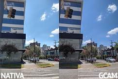 Câmera traseira, pequena diferença no céu e cores