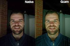 Selfie noturna, local muito escuro
