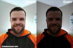 Selfie noturna ambiente interno