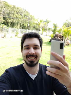 Câmera frontal