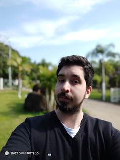 Câmera frontal modo retrato