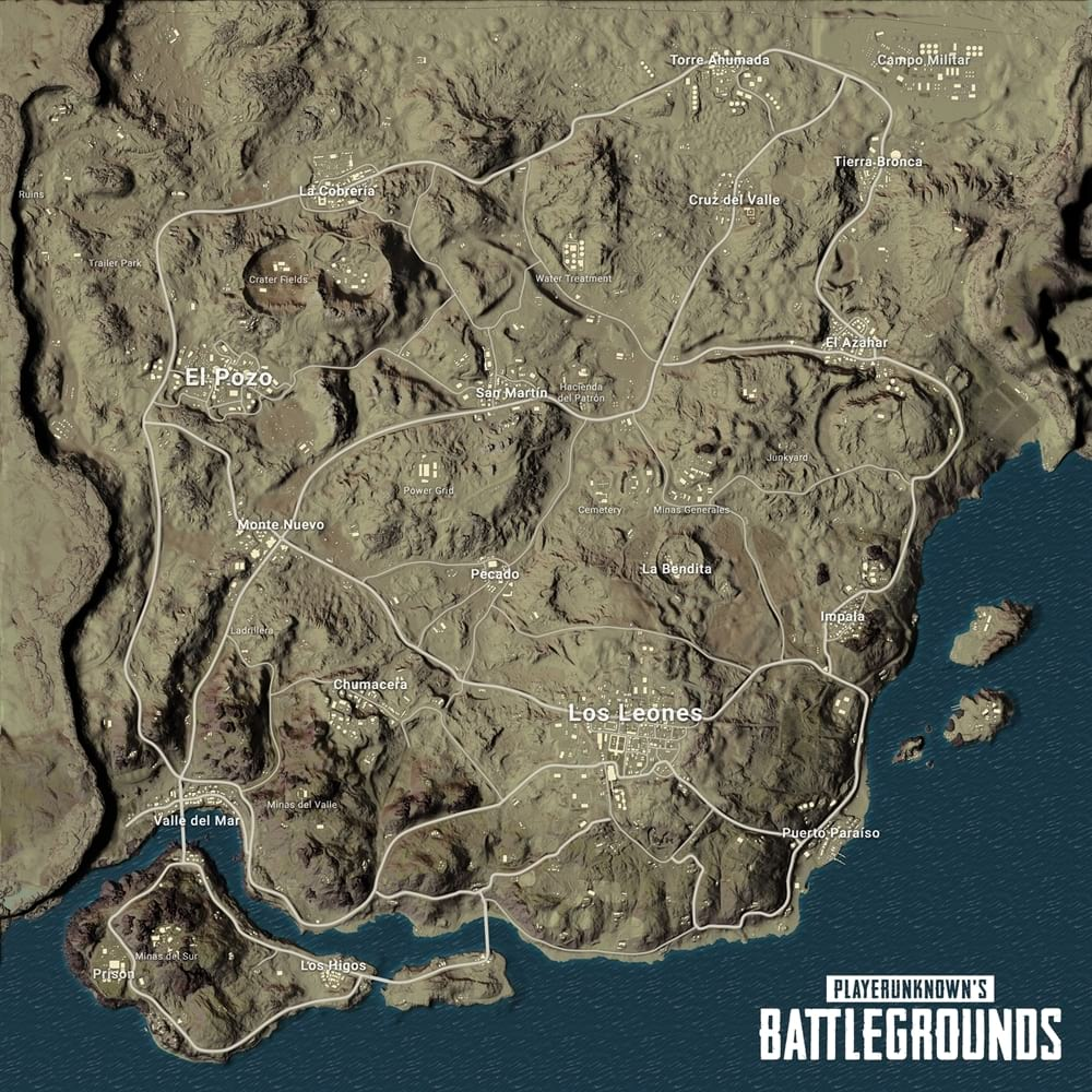 Nome e detalhes do segundo mapa — PlayerUnknown's Battlegrounds