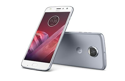 Motorola Moto Z2 Play Dual Chip Android 7.1.1 Nougat Tela 5,5 Octa-Core 2.2 GHz 64GB Câmera 12MP - Platinum