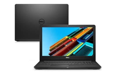 Notebook Dell Inspiron 15 3000, i15-3567-A15P, 7ª Geração Intel Core i3-7020U, 4 GB RAM, HD 1TB, Intel® HD Graphics 620, Tela 15.6 LED Full HD IPS, Windows 10, Preto