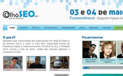 Marcas líderes patrocinam o OlhóSEO 2013