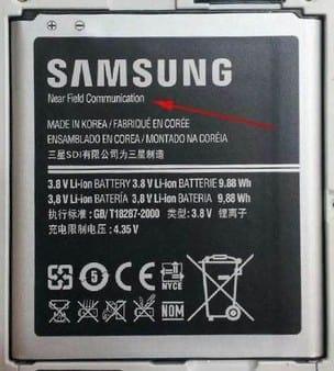 Suposta imagem da bateria do Galaxy S IV