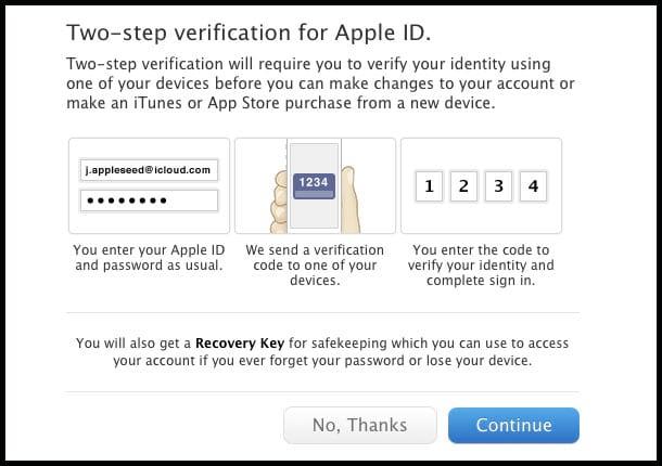 Apple lança nova autenticação, Apple IDs.