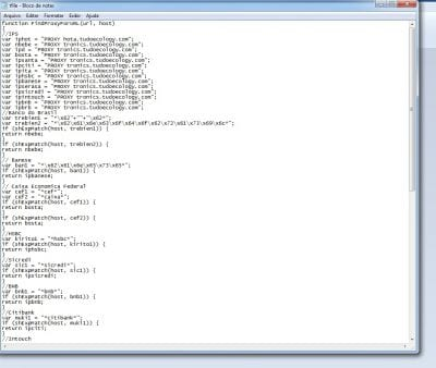TFILE - Script malicioso que rouba senhas bancárias em seu computador.