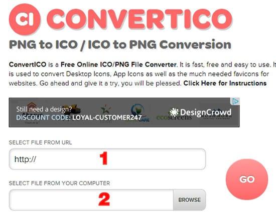 Como transformar uma imagem PNG em ícone?