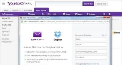 Yahoo! e Dropbox se juntam para melhorar a visualização de anexos em e-mails