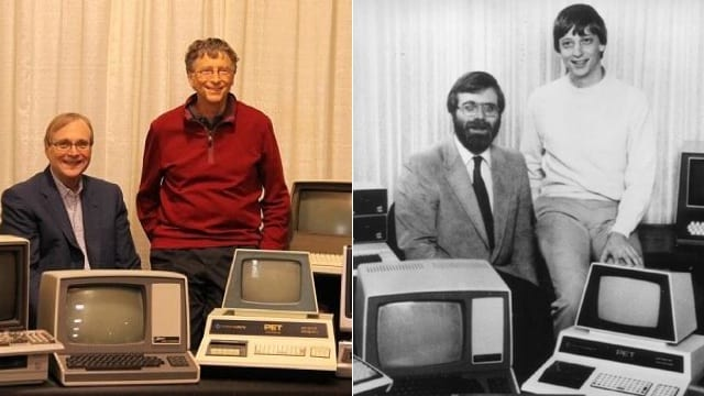 Bill Gates e Paul Allen recriam foto de 1981 no dia da Microsoft
