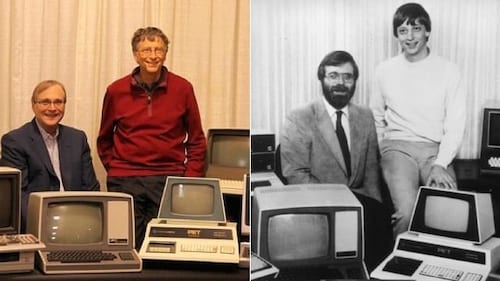 Bill Gates e Paul Allen recriam foto de 1981 no dia da Microsoft