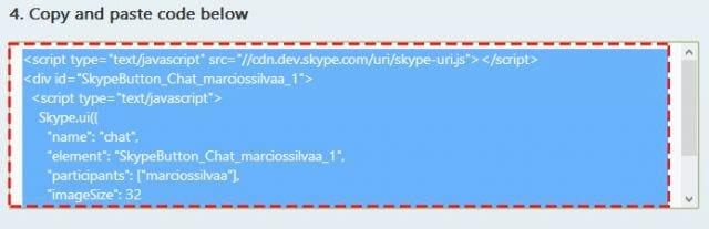 Atendimento online no seu site via Skype